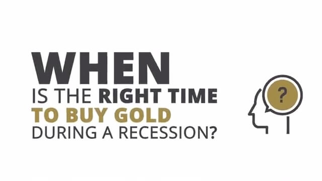 Right Time to Buy Gold During Recession Poster